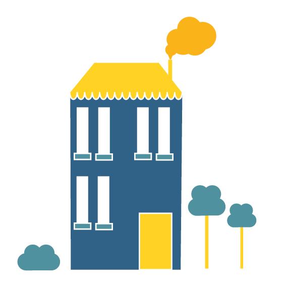Thekla Luitz – houses – illustration